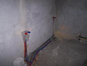 Fürdőszoba felújítás közben.
