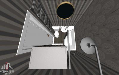 Fürdőszoba látványterv 3