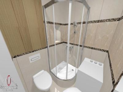 Fürdőszoba zuhany fülkével