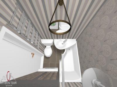 Fürdőszoba felülnézet