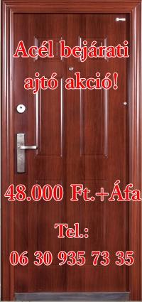 Bejárati ajtó akció